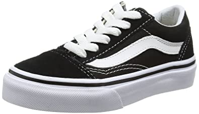 160bc9efc180c Vans VN-0W9T6BT: Kids Old Skool Black/True White Skate Sneakers (1