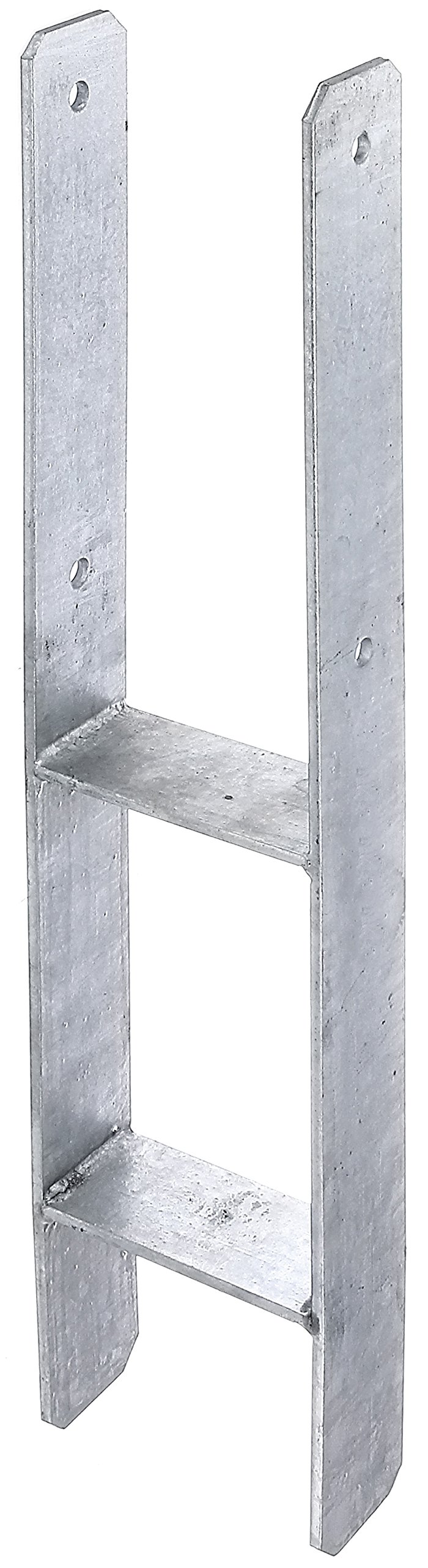GAH-Alberts 213800 H-Post Base Hot-dip Galvanised, Total Height: 600 mm, Material Thickness: 5 mm lichte Breite: 121 mm