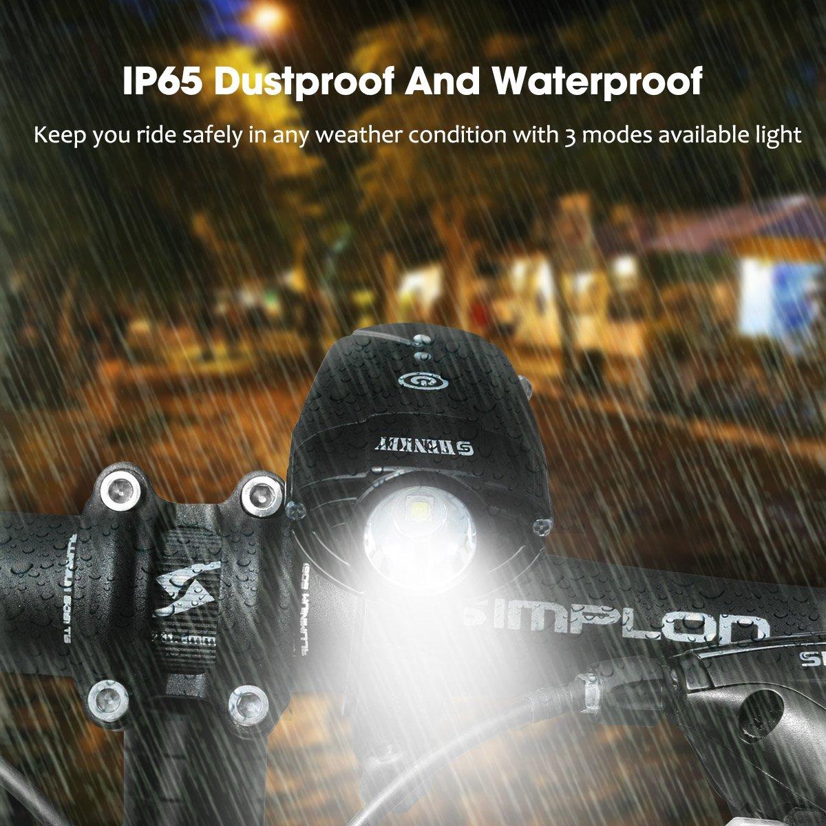 Amazon com : shenkey Bicycle Lights | 2000mAh/1000 Lumen LED Bicycle