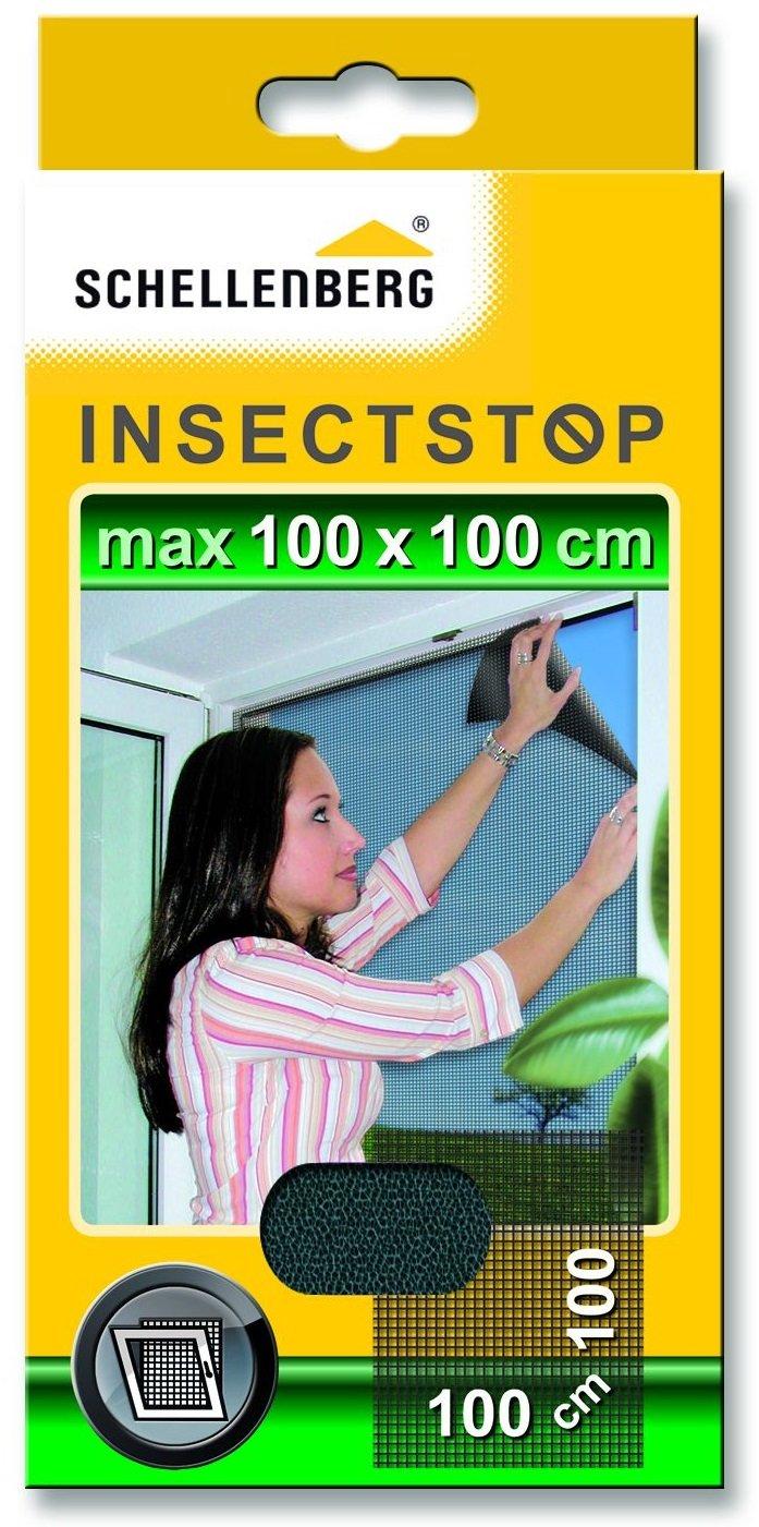 individuell k/ürzbar UV-best/ändig /& rei/ßfest wei/ß einfache Montage ohne bohren Schellenberg 50324 Fliegengitter perfekter Insektenschutz f/ür gro/ße Fenster 150 x 300 cm