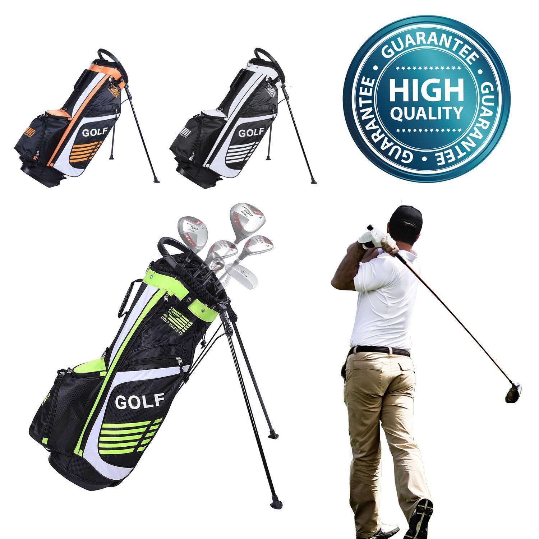 Koval Inc。14-way DividerゴルフスポーツバッグW /バッグスタンド&ゴルフキャップ  オレンジ B01MAYUSY7