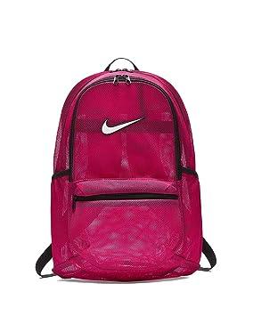 Nike Brasilia Mesh Mochila, Unisex Adulto, Rosa (Rush Pink/Black/White), Talla Única: Amazon.es: Deportes y aire libre
