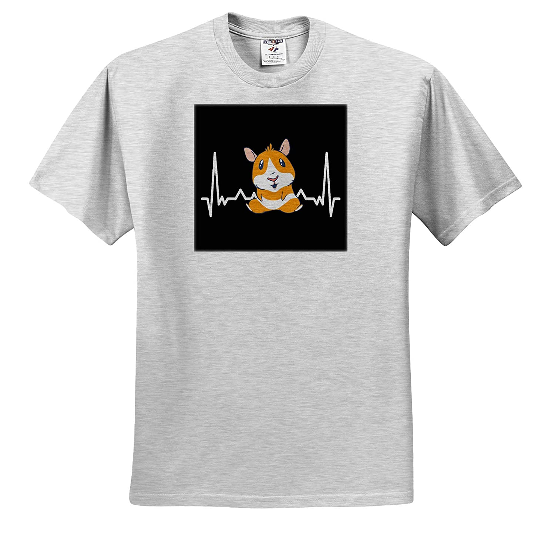 Funny Guinea Pig Pet with Heartbeat Animal 3dRose Sven Herkenrath Animal ts/_314106 Adult T-Shirt XL