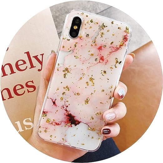 Luxe Feuille d'or Bling Marbre étuis de téléphone pour iPhone X 10 ...