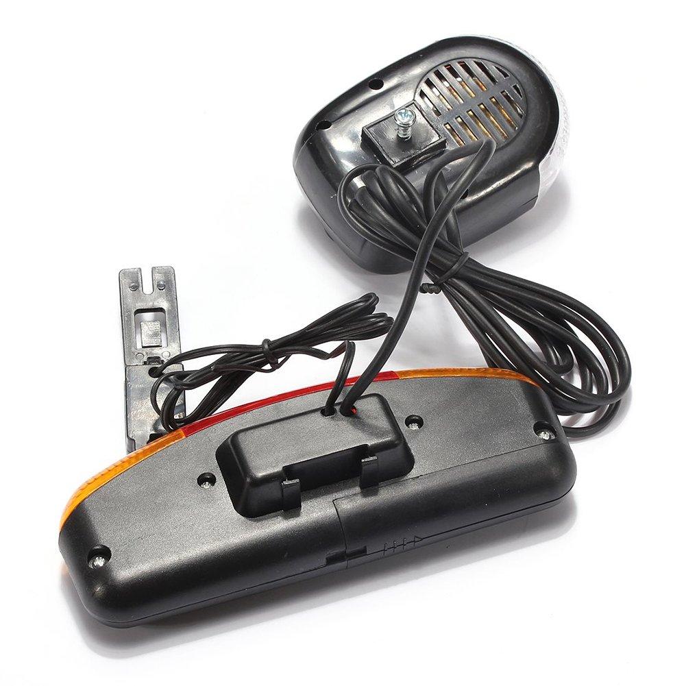 SODIAL pour Faire du Velo 3 en 1 Signal de Tour de Velo Queue de Frein 7 LED Lumiere Corne Electrique
