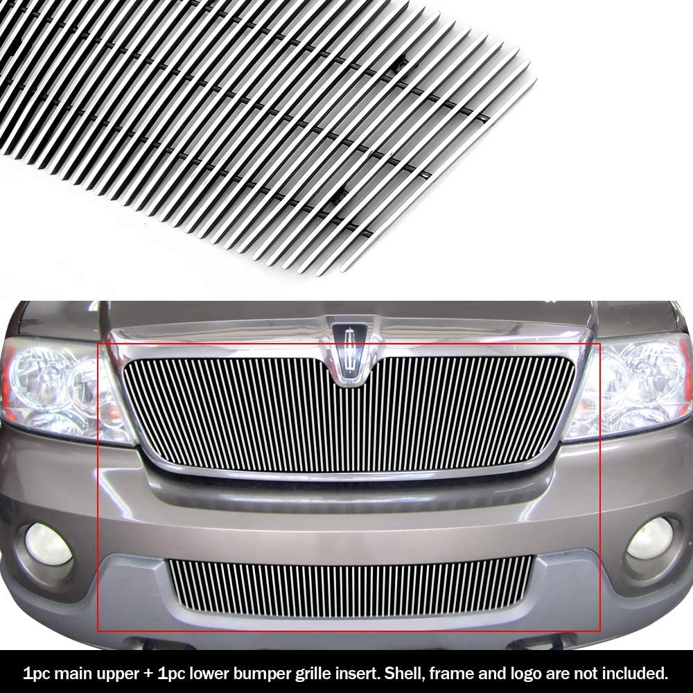 Aluminum Billet Grille Combo Customized For 98-02 Lincoln Navigator