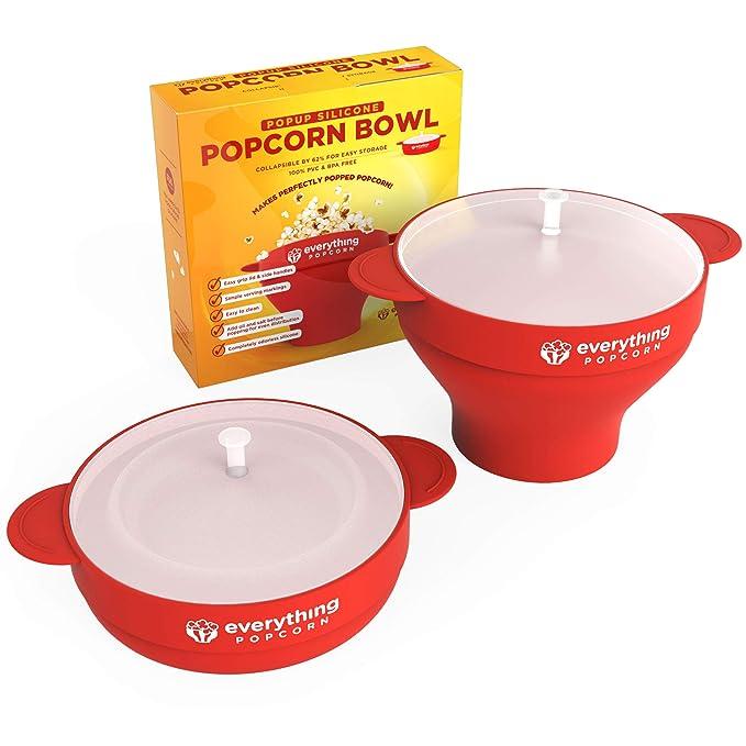 PopUp silicona palomitas de maiz poppers - plegable silicona palomitas Popping bol con asas de - ideal para toda la familia sin BPA microondas palomitas de ...
