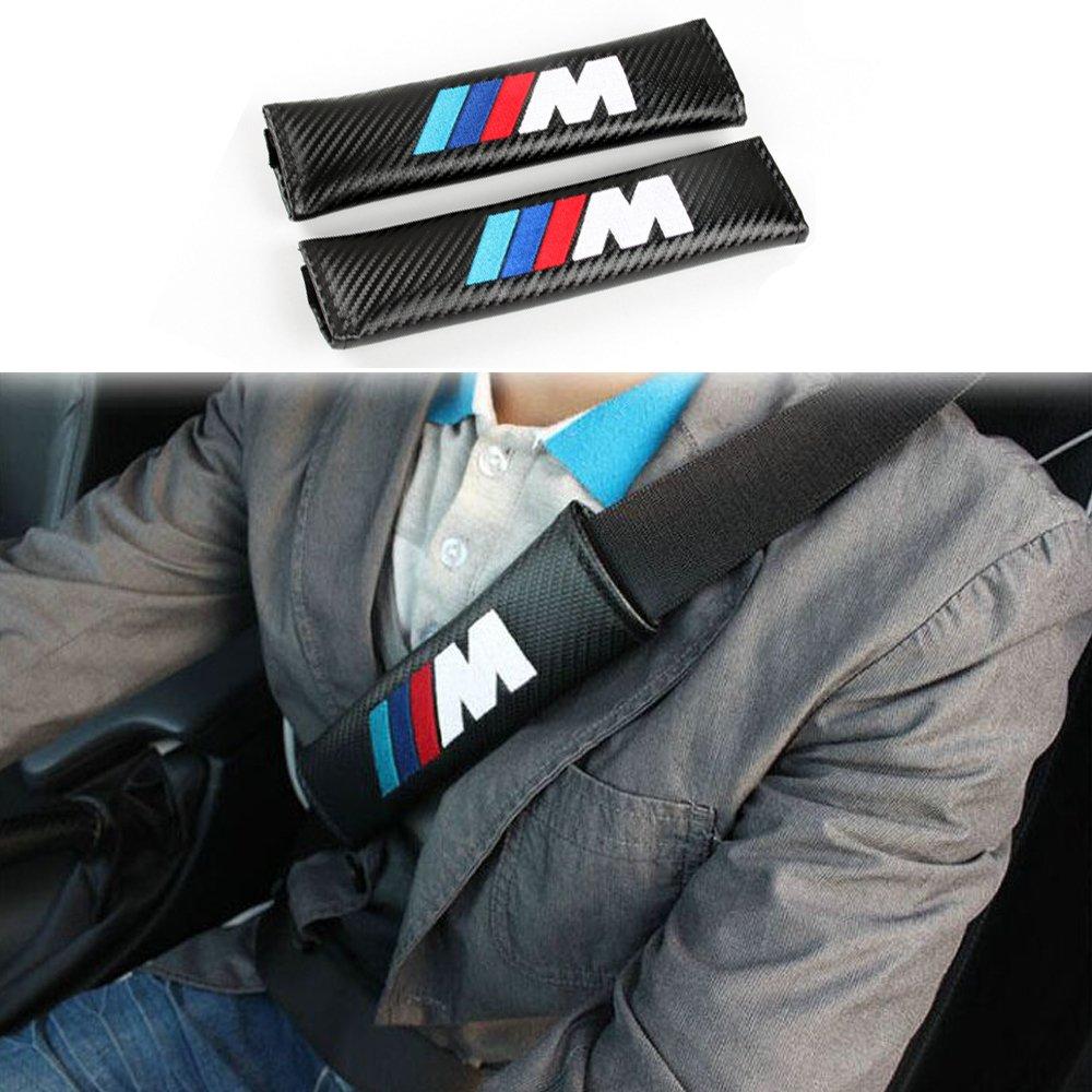 COGEEK M Sport Carbon Fiber Seat Belt Cover Shoulder Pad Cushion