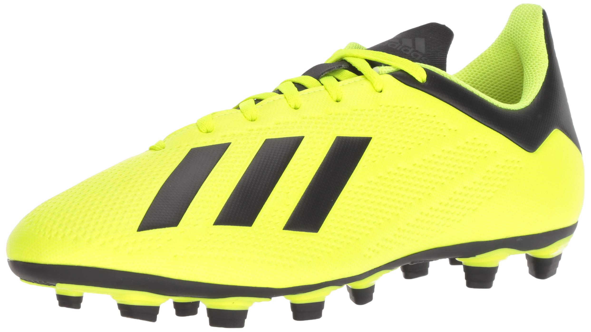 adidas Men's X 18.4 Firm Ground Soccer Shoe, Solar Yellow/Black/White, 7.5 M US