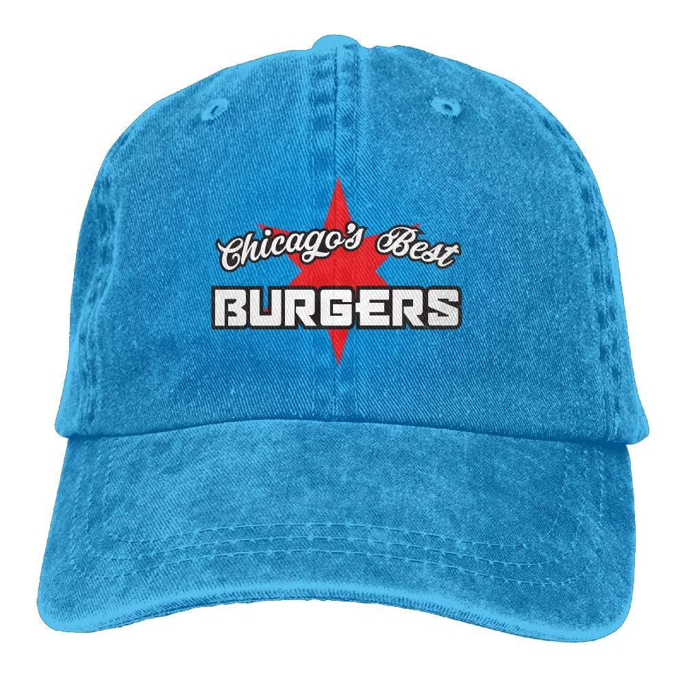 LETI LISW Chicago Style Burgers FoodWashedBaseball Cap Adult Unisex Adjustable Cap