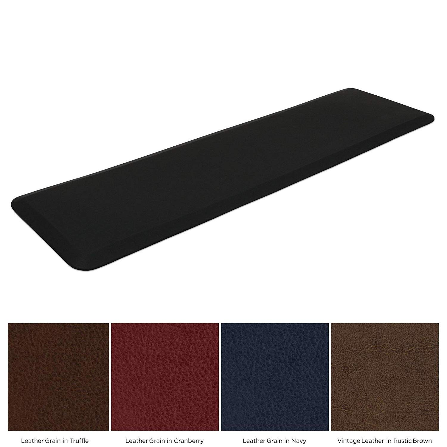 NewLife by GelPro Garage & Kitchen Utility Comfort 1/2'' Thick Anti-Fatigue Floor Mat, 20'' x 72'', Black by NewLife by GelPro