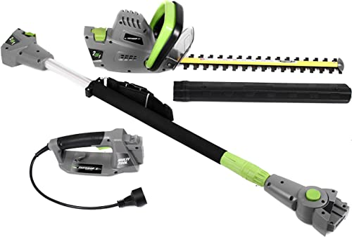 Earthwise CVPH43018 Corded 4.5 Amp 2-in-1 Convertible Pole Hedge Trimmer Renewed