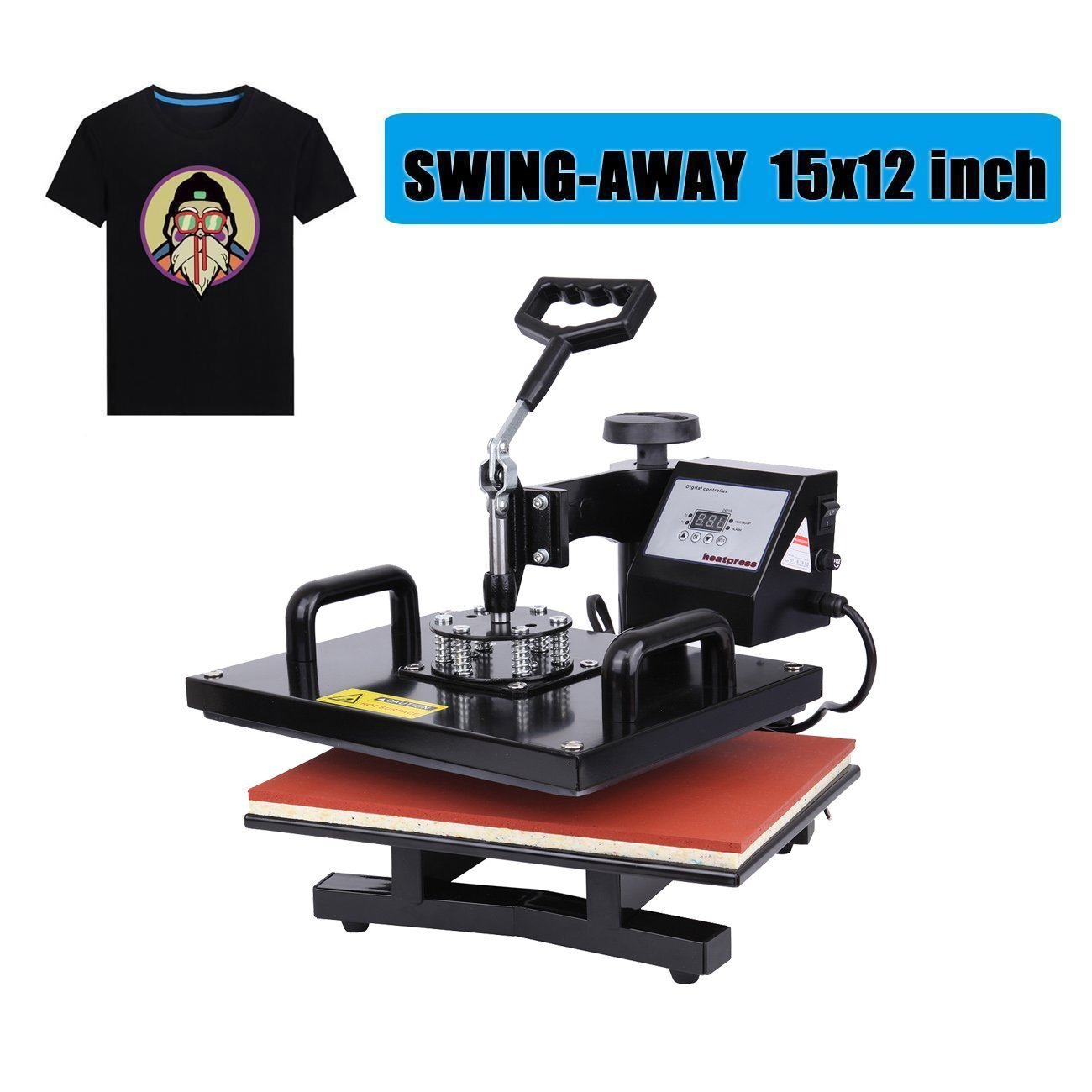 Ambienceo 1000W 12''x15'' 360 Degree Swing Away Digital Transfer Sublimation T-shirt Heat Press Machine by Ambienceo