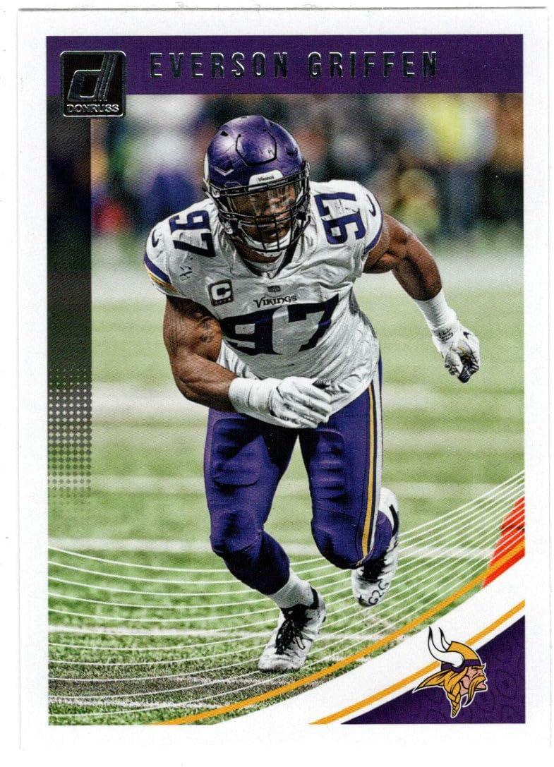 Football Card 2018 Panini Donruss # 180 Mint Minnesota Vikings Everson Griffen