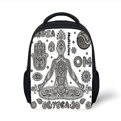 5114b78133b0 Amazon.com  iPrint Kids School Backpack Yoga