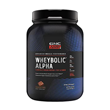 GNC AMP Wheybolic Alpha Whey Protein Powder, Chocolate Fudge, 22 Servings, Contains 40g