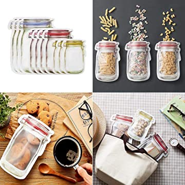 OYTRO Portable Seal Transparent Snacks Moisture-proof Food Storage Bag Decorating & Pastry Bags