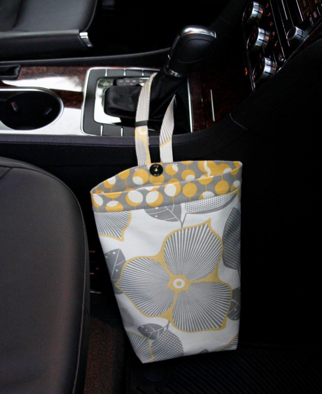Car Trash Bag, Amy Butler Modern Optic, Customizable, Car Organizer, Auto Bag, Auto Organizer, Car Accessories, Car Gift, Auto Trash Can