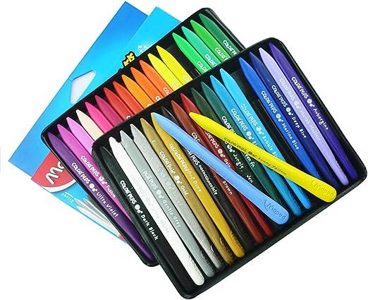 Sotoboo 36 colores Crayones de cera, no tóxico, plástico borrable, plastidecor para colorear Crayones para niños y niñas adultos pintura niños escuela oficina suministros de arte: Amazon.es: Hogar