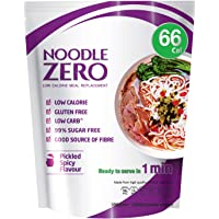 NoodleZero Konjac/Shirataki Low Calorie Meal - Pickled Spicy Flavour, Low Carb, Gluten Free, Keto Friendly, Easy to Prepare, Healthy Diet Pasta