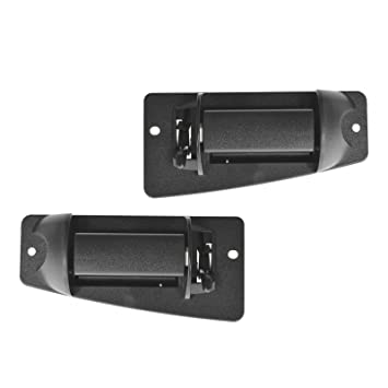 Metal Outside Door Handle Textured Black Extended Cabs Rear Left Right Pair