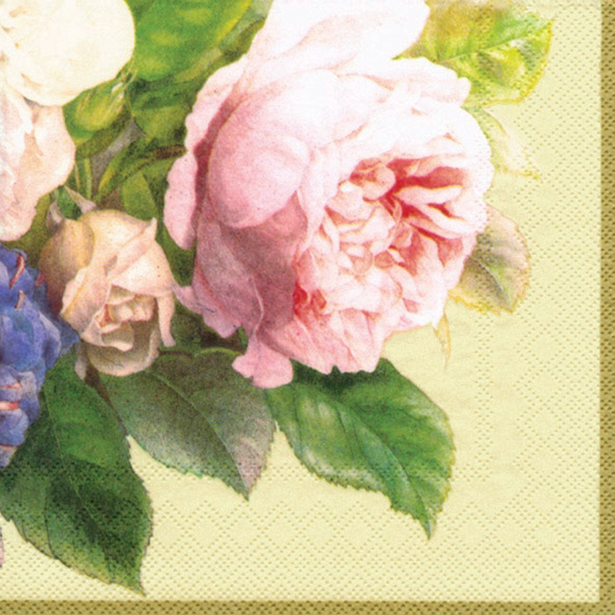 Ideal Home Range 20 Count Decorative Paper Napkins, Luncheon, Fairy Rose Cream