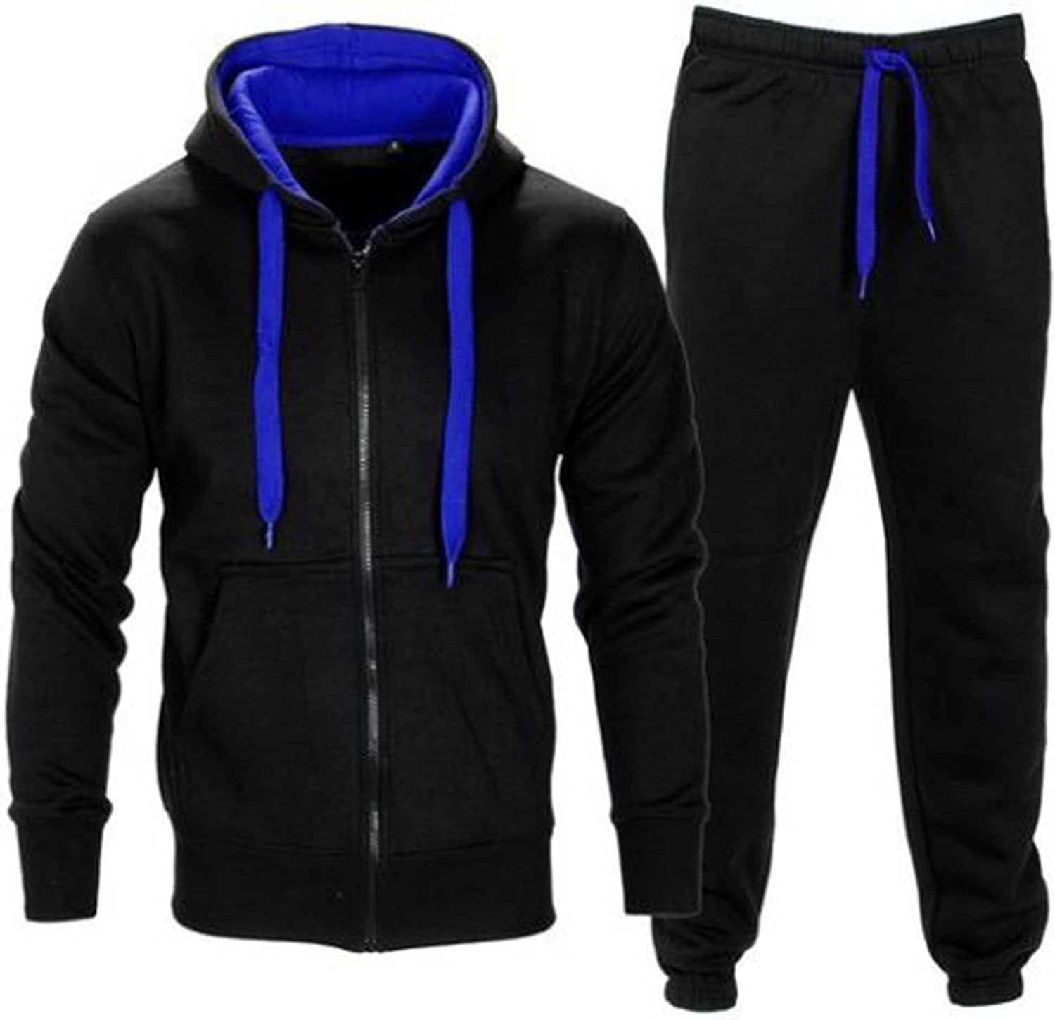 Made by Purl/® New Mens Tracksuit Set Fleece Hoodie Top Bottoms Jogging Joggers Gym Contrast Cord Full Zip Tracksuits Sweat Sports Jacket Pants