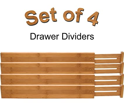 amazon com lipper international bamboo kitchen drawer dividers rh amazon com