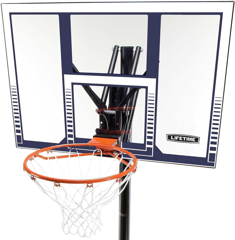 245//305 cm LIFETIME 90001 Canasta Baloncesto Resistente Altura Regulable UV100 Negro