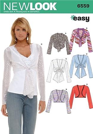 New Look Schnittmuster 6559, Knit Bolero Jacke, top.: Amazon.de ...