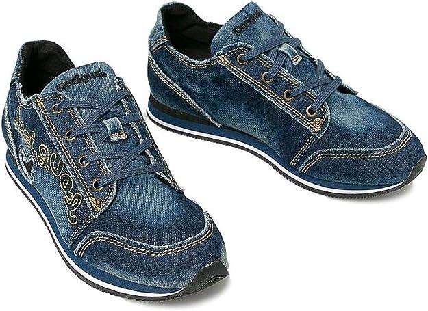 Desigual 19WSKD01 Sneaker Denim Pegaso, Blu (jeans), 41 EU