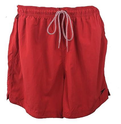 Speedo Mens Swim Trunks With Draw String Red XL