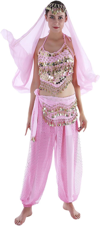 Seawhisper Aladdin Kost/üm Damen Arabische Prinzessin Orientalisches Bollywood Bauchtanz Oberteil H/üfttuch Karnevalskost/üme Karneval