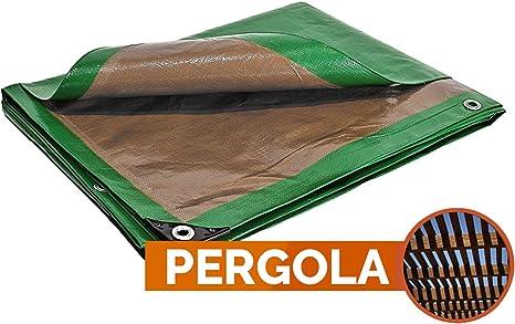 Bâche pergola 250 g/m² - 5 x 8 m - toile pergola - toile pour tonnelle - bache exterieur - bache terrasse
