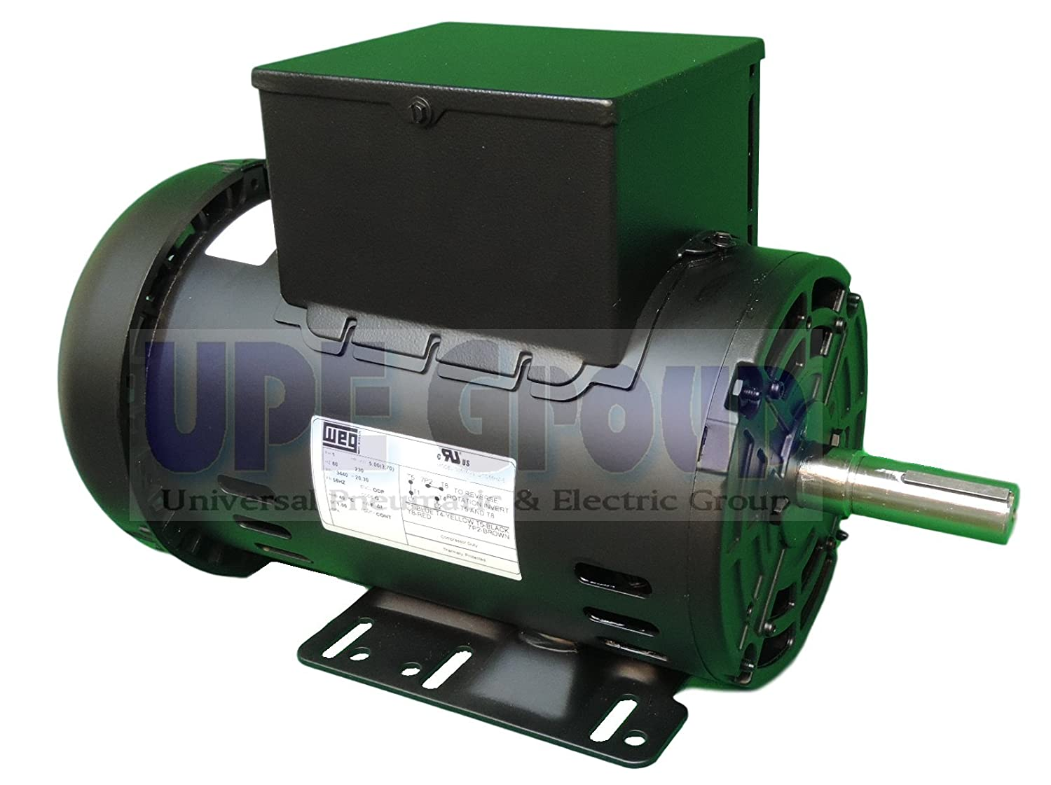 "NEW 5HP Electric Motor for air Compressor 56HZ frame 3455 RPM 7/8"" Shaft 19 AMP Heavy Duty"
