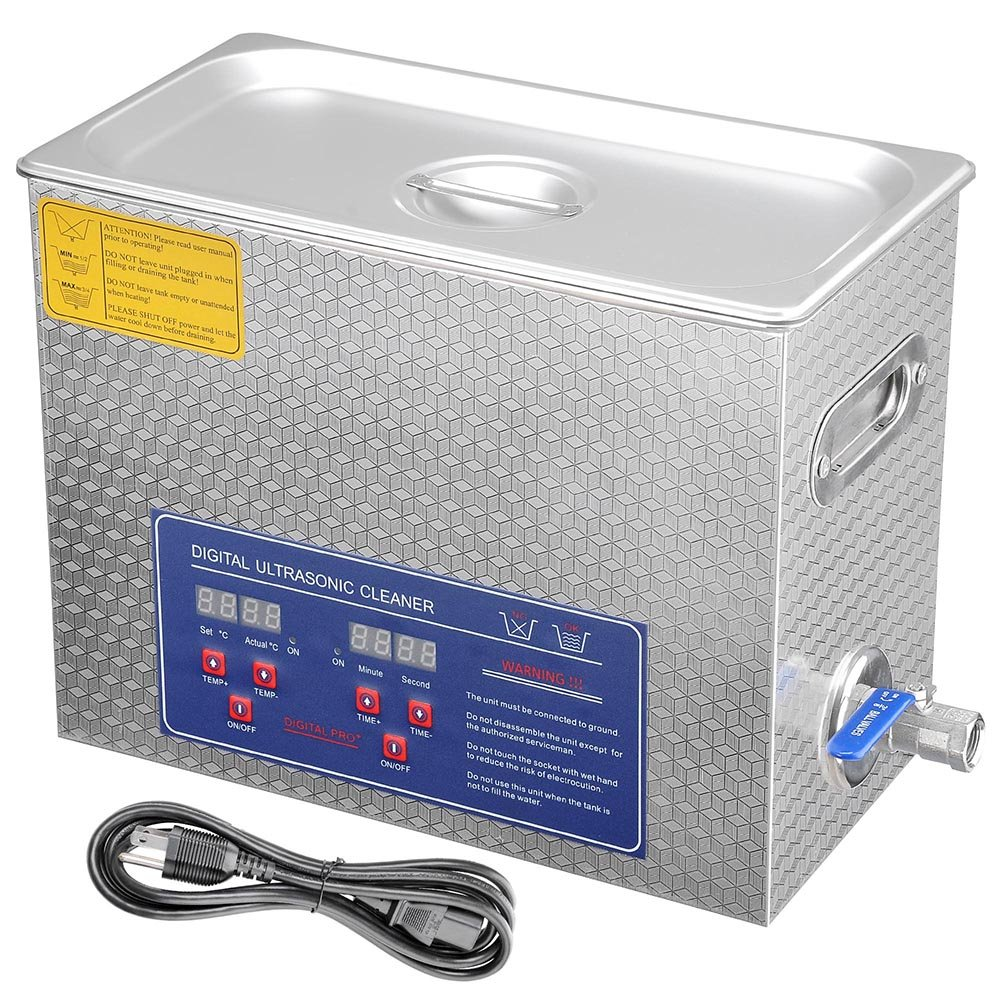 AW 6L Liter Stainless Steel 380 Watt Ultrasonic Cleaner w/Timer Heater Jewelry Necklace Lab Bullet Gun by AW (Image #1)