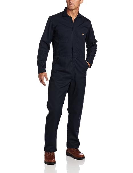 942a20c853633 Dickies Men's Long Sleeve Blended Basic Coverall, Dark Navy, Small/Regular