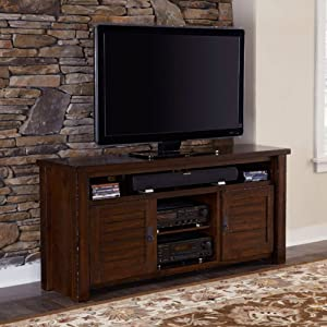 "Progressive Furniture Trestle Wood 64"" Media Console"