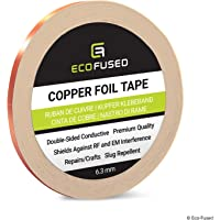 Eco-Fused Adhesive Copper Foil Tape - Double-Sided Conductive - EMI, Rf Shielding, Paper Circuits, Electrical Repairs…