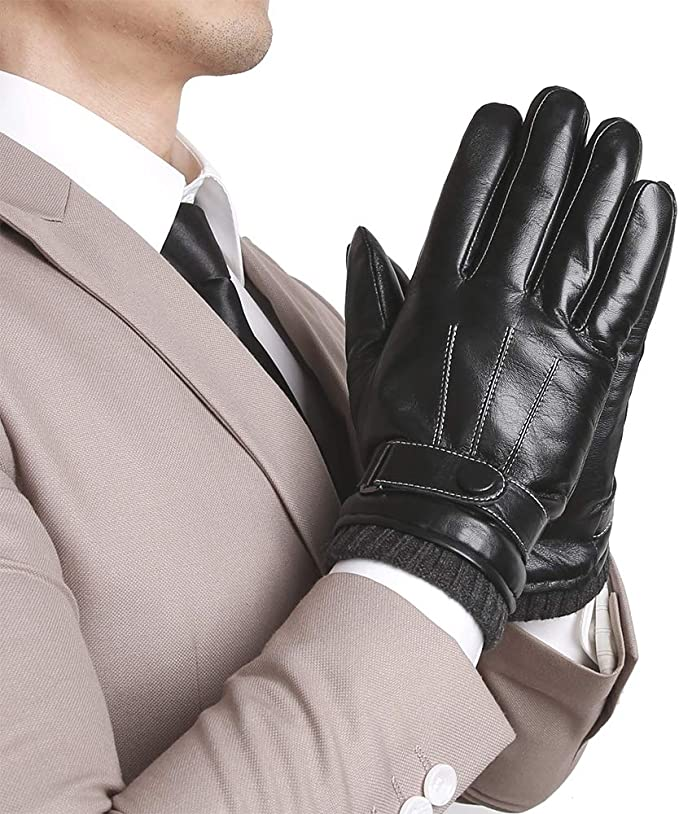 Cold Weather Touchscreen Luxury Dress Napa Leather Winter Gloves Texting