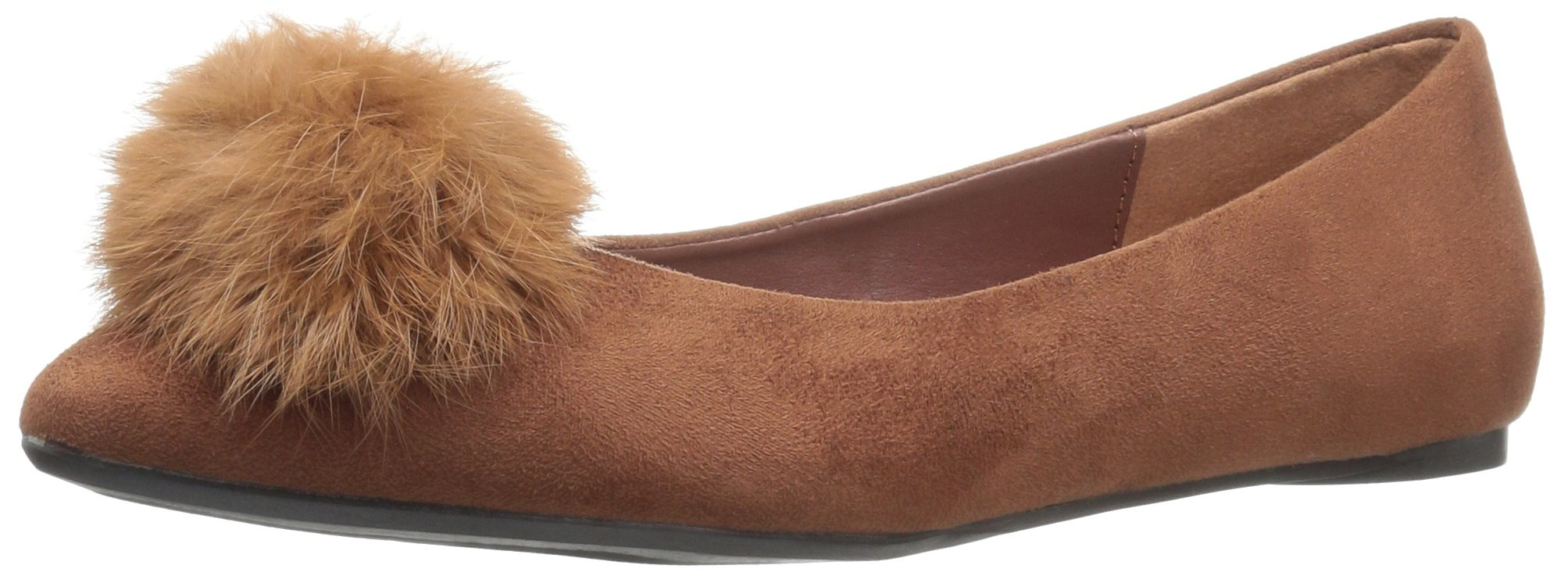 Penny Loves Kenny Women's Nimble Ballet Flat, Mid-Brown Micro Suede, 13 M US