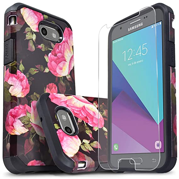 info for a7a5e 03365 Galaxy J3 Luna Pro Case, Galaxy J3 Prime Case, Galaxy J3 Emerge Case, With  [Premium Screen Protector] Starshop Impact Protective Cover For J3 ...