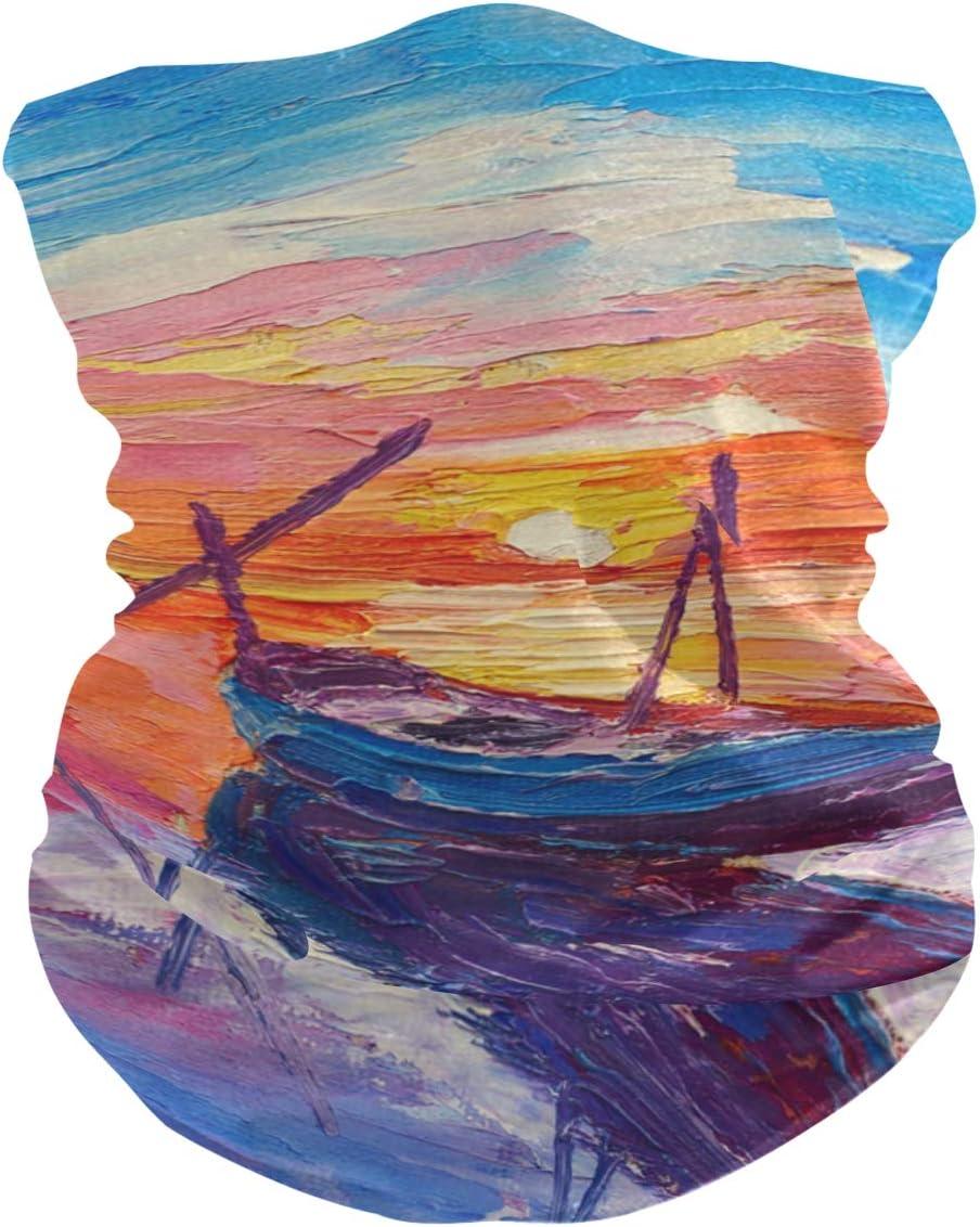 Outdoor Schutzhandtuch Rulyy Bandanas f/ür Staub Malerei Sturmhaube Kopftuch Meer Unisex Boot Waschlappen Sonnenuntergang Multifunktionstuch Stirnband