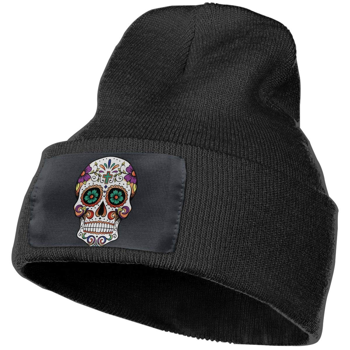 Sugar Skull Men Women Winter Comfortable Beanie Cap