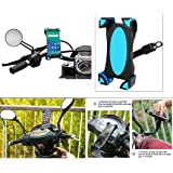 AutoStark 360 Degree Rotation Universal Motorbike Holder Rearview Mirror Mount Stand for All Mobile ( Required to Attaches securely and directly just below the side viewing mirror with screw size max 10mm)
