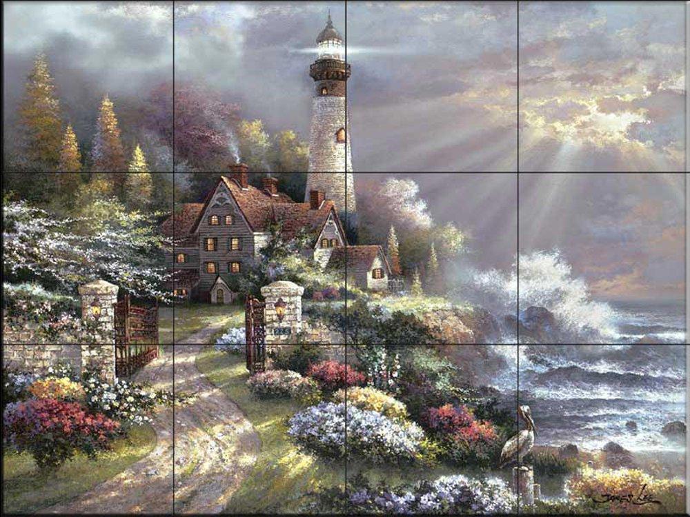 Ceramic Tile Mural - Coastal Splendor - by James Lee - Kitchen backsplash/Bathroom shower