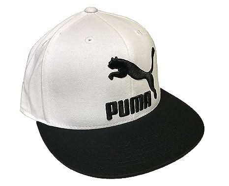 Puma- Heritage 210 Fitted Hat (Small/Medium, Black/White)