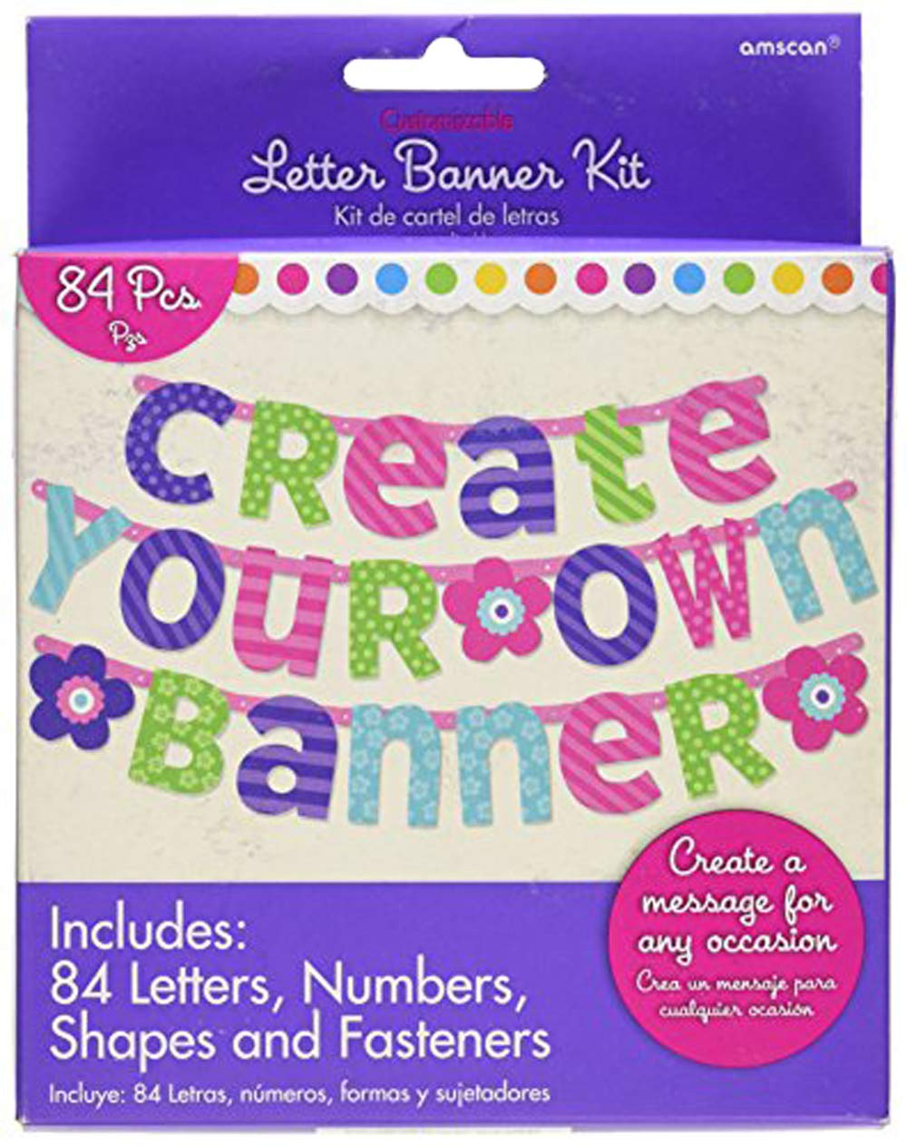 Amscan 120185 Letter Banner One Size Purple and Teal
