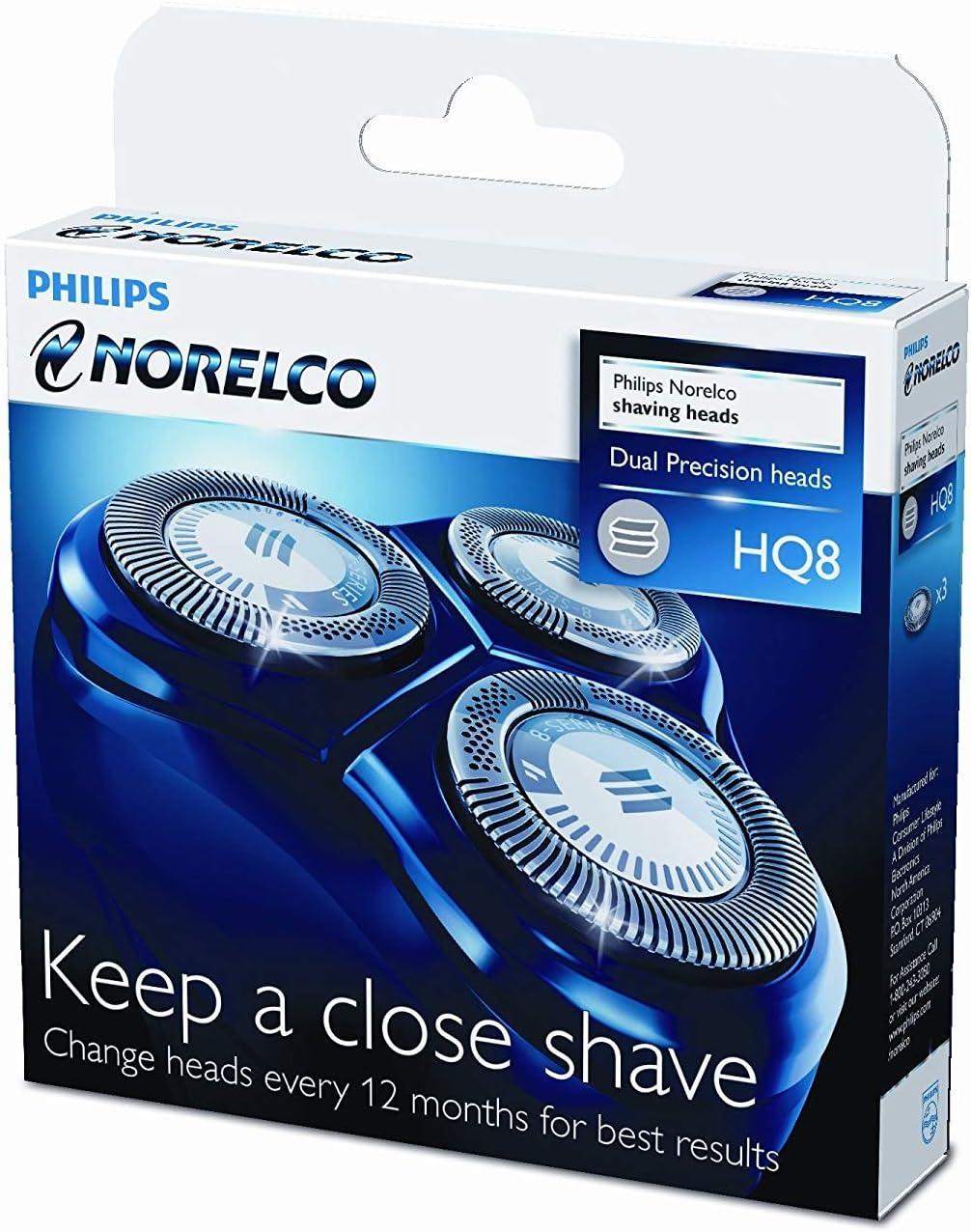 Philips HQ8/50 - Cabezal de afeitar, 3 unidades para afeitadoras eléctricas Philips: Amazon.es: Salud y cuidado personal