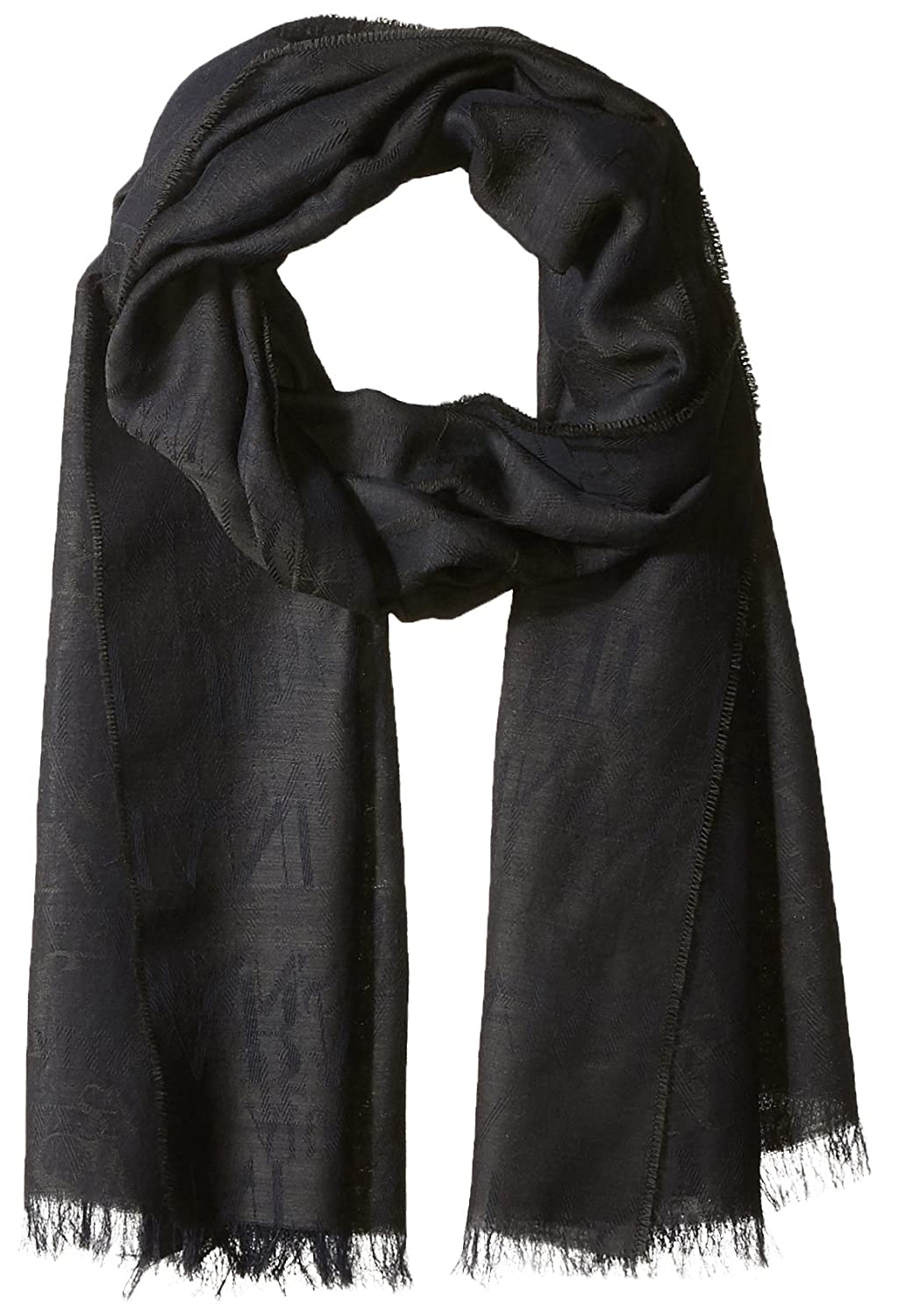 Armani Exchange Men\'s Solid Wool and Modal Fabric Scarf Armani Jeans Green/Black ONE Size 9340237A708